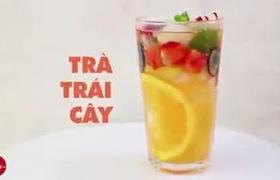 Hướng dẫn cách pha trà trái cây tươi giải nhiệt ngày nắng nóng