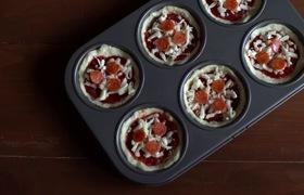 Bánh Pizza hình Cupcake nhỏ gọn thơm ngon