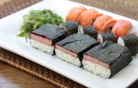 """Cách làm món Spam Musubi, """"cơm và chả cuộn rong biển"""" kiểu Nhật Bản"""