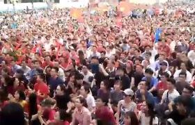 CĐV TPHCM vỡ òa khi Quang Hải đá thủng lưới Qatar, gỡ hòa cho U23 Việt Nam
