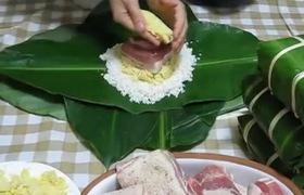 Cách gói bánh chưng nhanh, đep và đơn giản không cần dùng khuôn