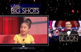 """Tập 5 """"Mặt trời bé con - Little big shots"""": Cô bé Ánh Ngọc rủ rê Lại Văn Sâm taoaj yoga trên sân khấu."""