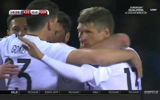 Nhìn lại chiến thắng của đội tuyển Đức trước Azerbaijan