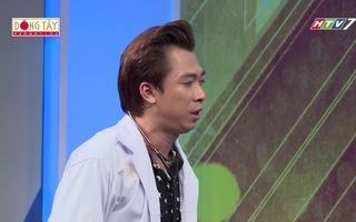 Clip: Trường Giang âm thầm nắm tay Nam Em trên sóng truyền hình