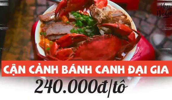 Cận cảnh bánh canh đại gia 240 ngàn/ tô ở Sài Gòn