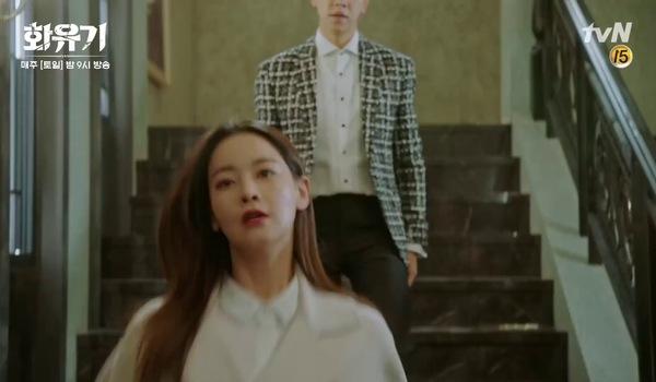 """Tập 15 """"Hoa Du Ký"""": Son Oh Gong siết cổ Asanyeo (trong thân xác của Jin Sun Mi)"""