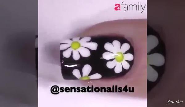 Chào hè với mẫu nail hoa cúc ngọt ngào dễ thương