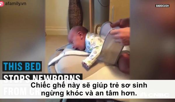 Chiếc ghế giúp trẻ sơ sinh ngừng khóc và an tâm hơn