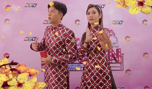 """""""Khúc hát se duyên"""": Ngô Kiến Huy - Thúy Vân chúc Tết khán giả trên phim trường"""