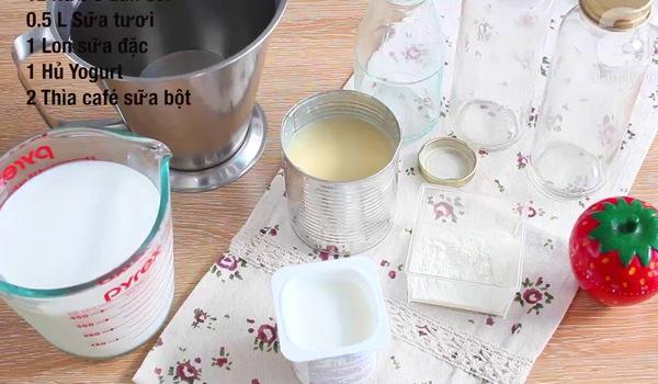 Cách làm sữa chua uống siêu ngon
