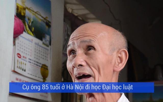Cụ ông 85 tuổi ở Hà Nội đi học Đại học