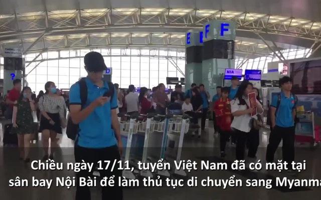 Đội tuyển Việt Nam lên đường sang Myanmar để chuẩn bị cho trận đấu tiếp theo tại AFF Cup 2018