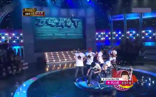Sân khấu battle giữa B2ST và MBLAQ