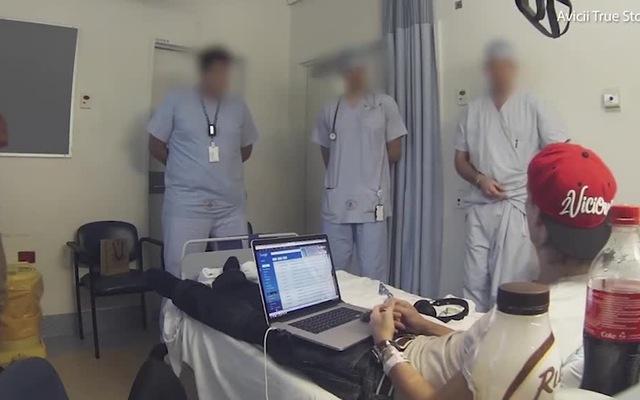 Đoạn clip Avicii nằm trong bệnh viện vào tháng 11/2017