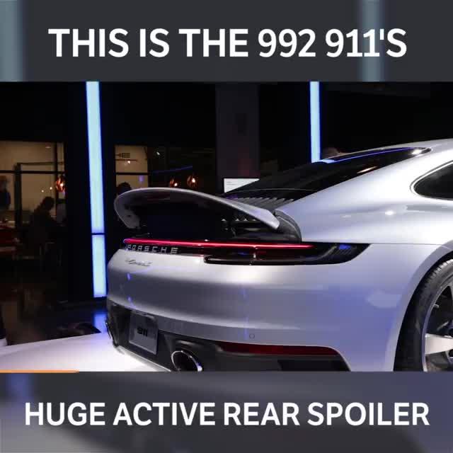 """Đây chính là cánh gió sau """"khổng lồ"""" trên Porsche 911 mới"""