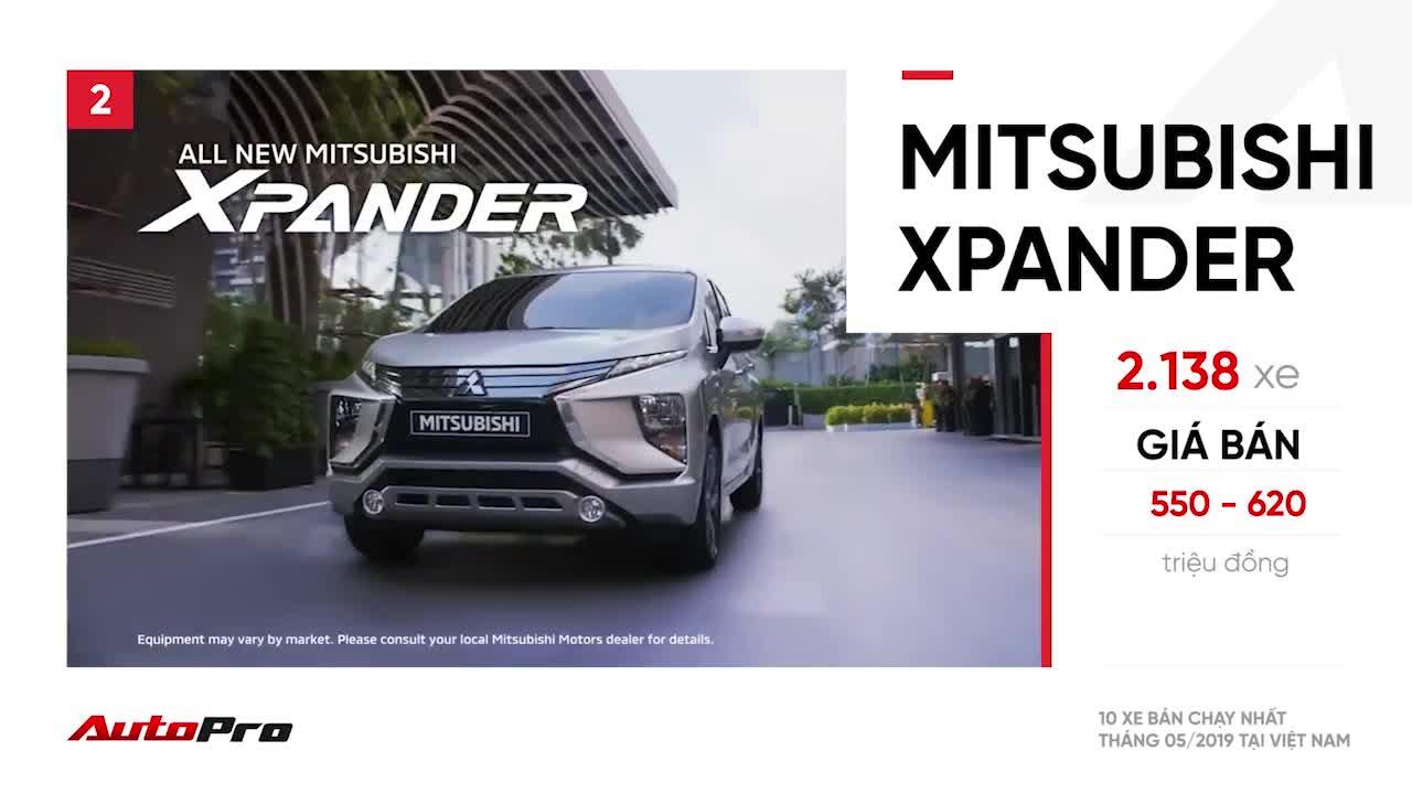 10 xe bán chạy nhất tháng 5/2019
