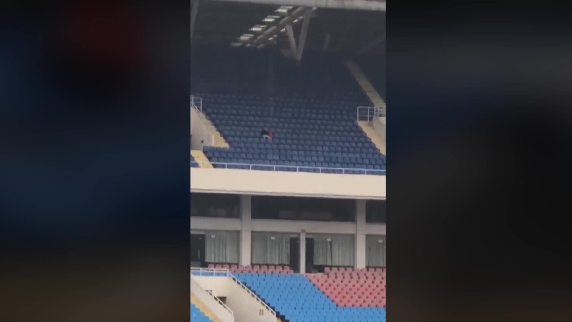 Cổ động viên cuồng nhiệt một mình tới sân Mỹ Đình
