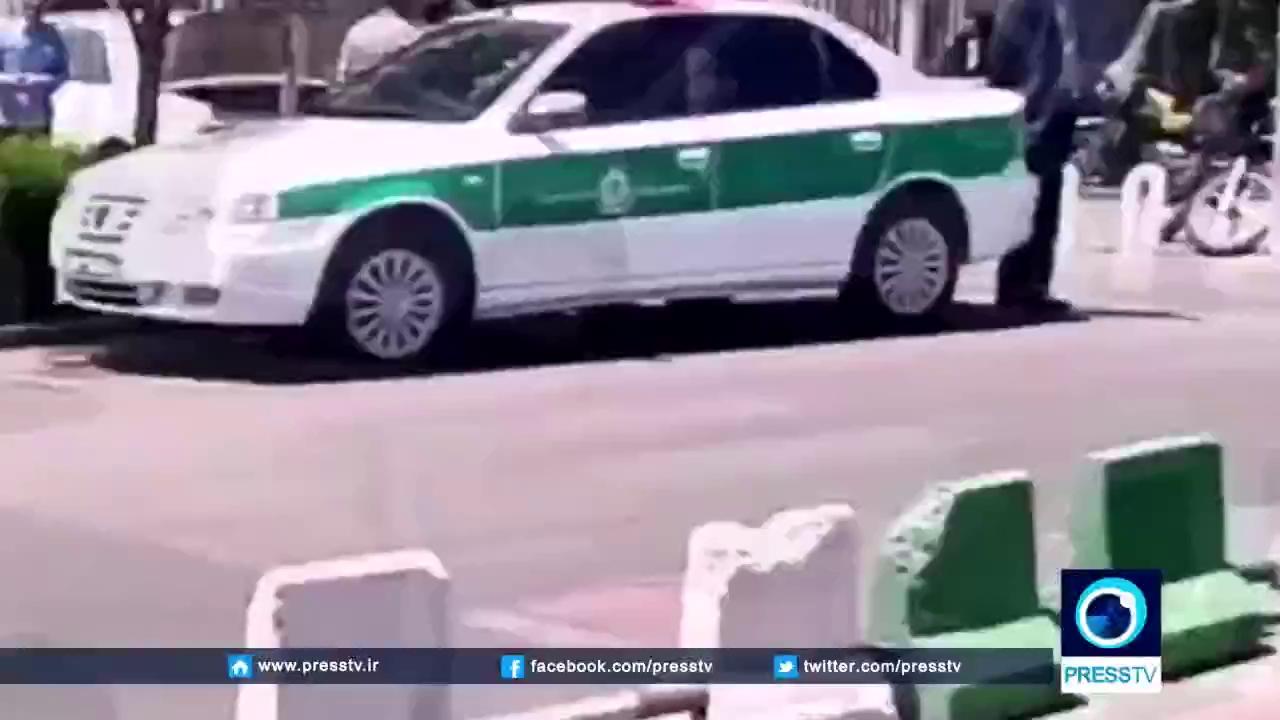 Lực lượng an ninh Iran tới hiện trường vụ tấn công.