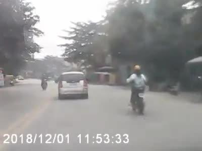 Pha bẻ lái sang đường gây tai nạn