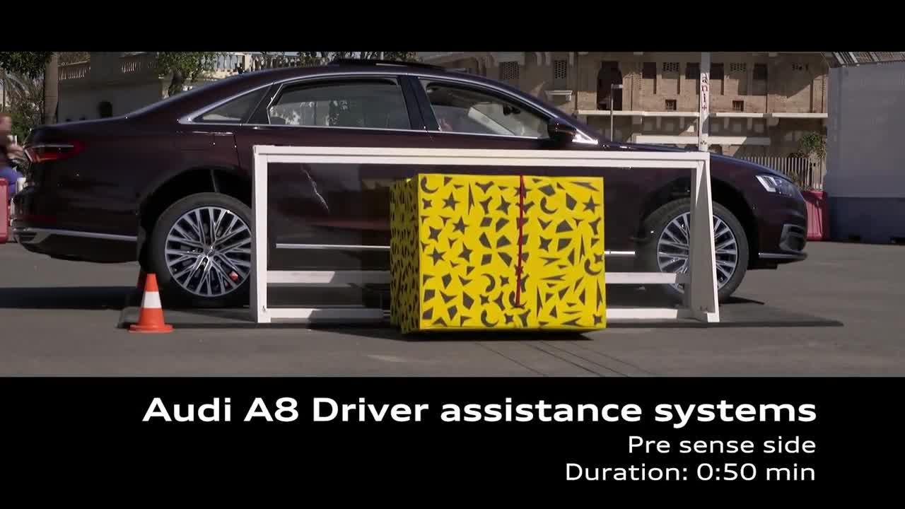 Công nghệ Pre Sense Side trên Audi A8