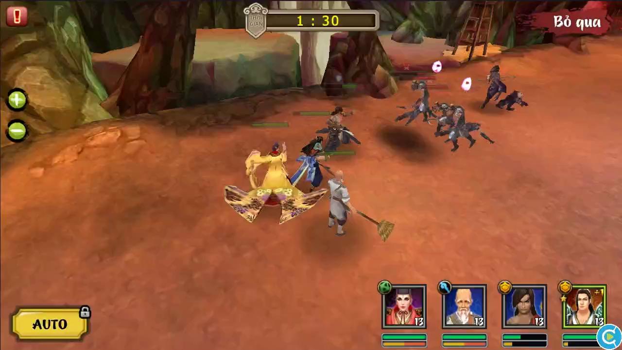 Tận mắt xem clip hệ thống chiến đấu game Việt Hoa Sơn Luận Kiếm 3D