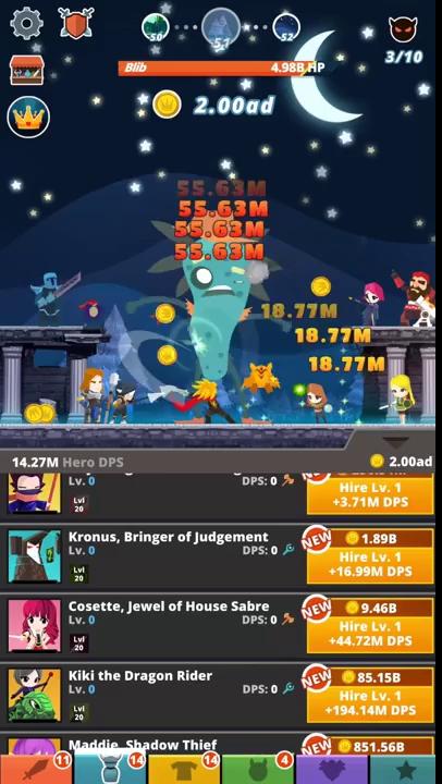 Tap Titans 2 - Tựa game khiến người chơi dễ mỏi tay nhất Thế giới