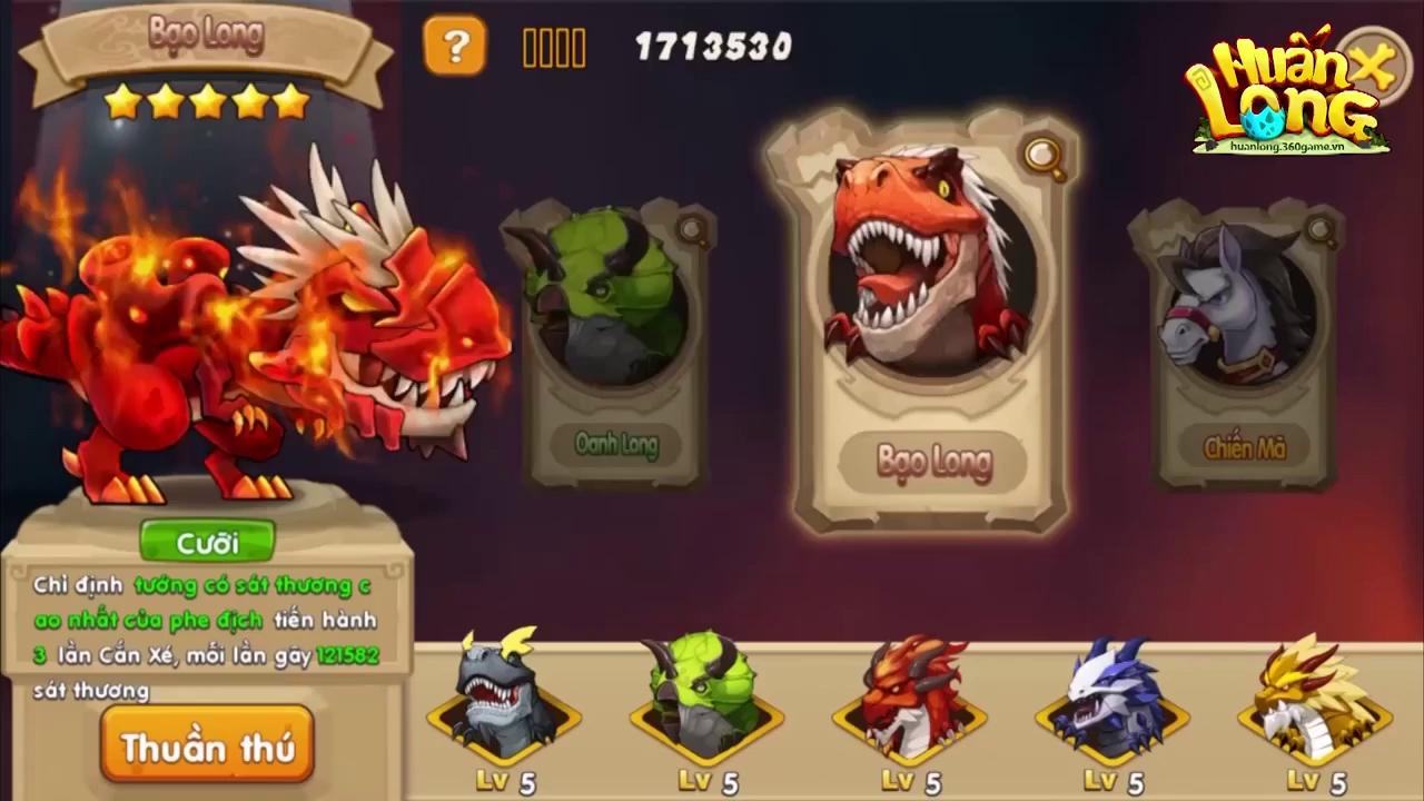 Huấn Long VNG: Khám phá sức mạnh 6 Thần Long trên Đảo Rồng