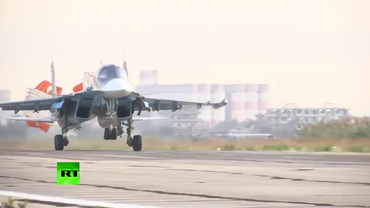 Máy bay ném bom Su-34 của Không quân Nga tác chiến tại Syria.
