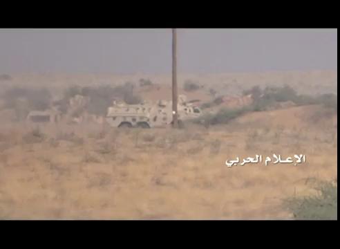 Quân Houthi nã tên lửa Nga thiêu cháy xe bọc thép Arab Saudi