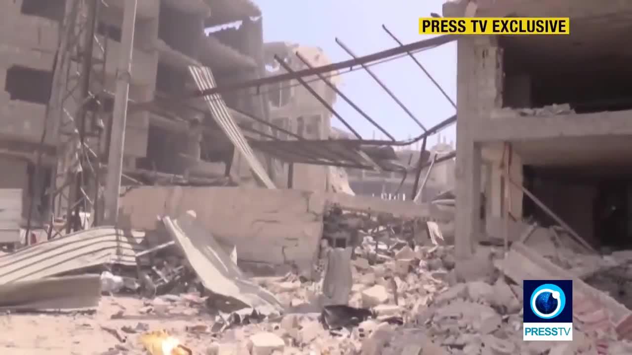 Phóng sự kênh truyền hình Press TV, quân đội Syria tiếp tục tiến công mở rộng vùng giải phóng ở Đông Ghouta