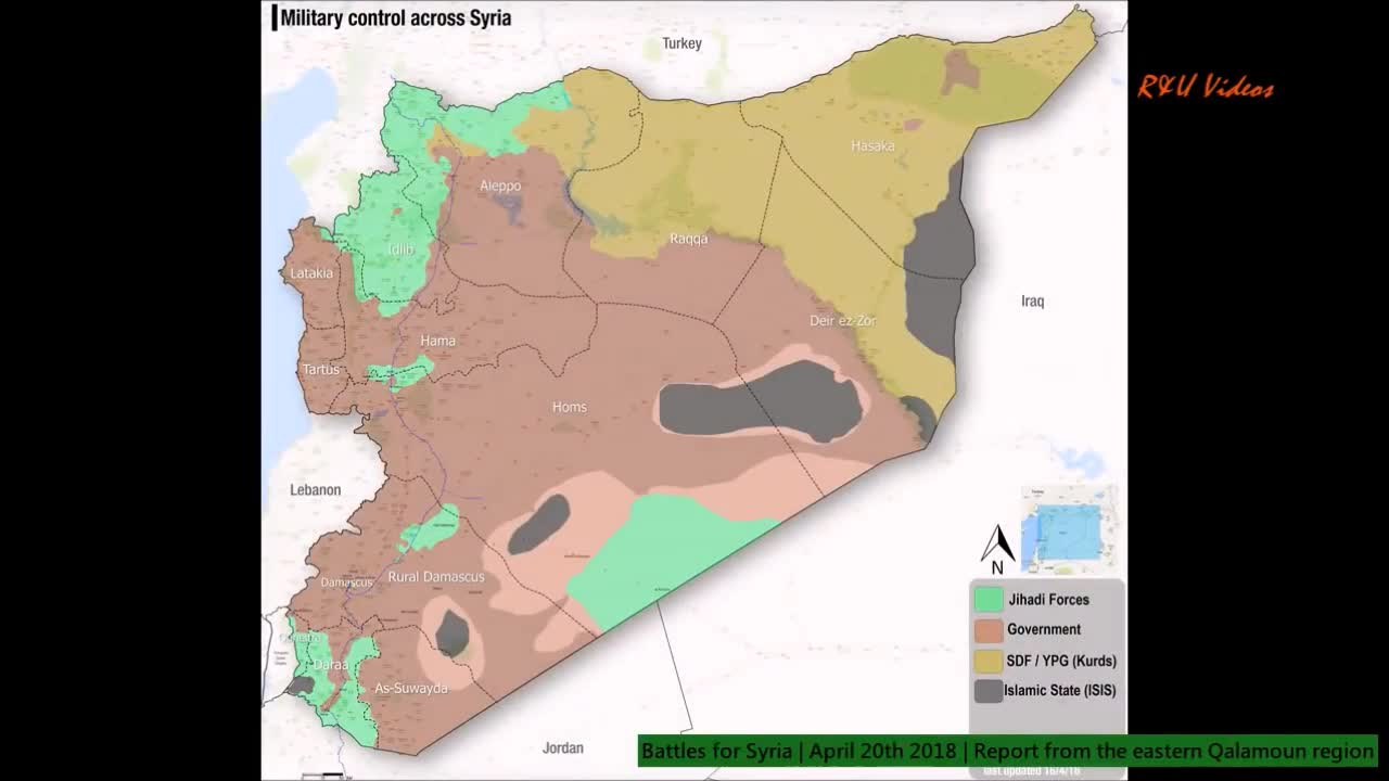 Tổng quan tình hình chiến sự khu vực Qalamoun, ngoại ô Damascus. Video R&T