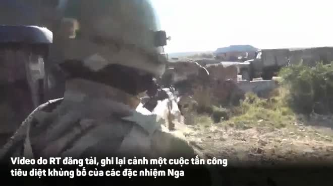 Đặc nhiệm Nga đột kích tiêu diệt 2 tay súng khủng bố