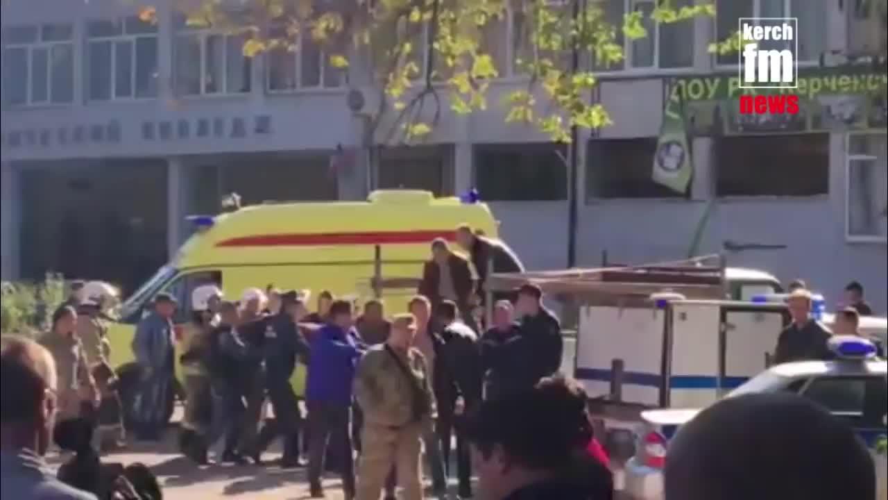 Khung cảnh hiện trường vụ nổ trường học ở Crimea ngày 17/10/2018