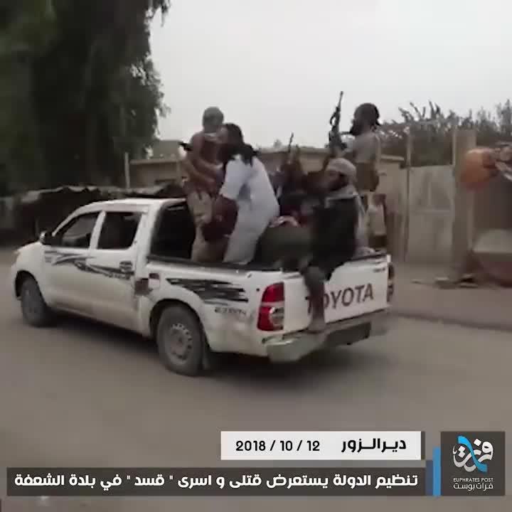 IS bêu xác phiến quân đối địch