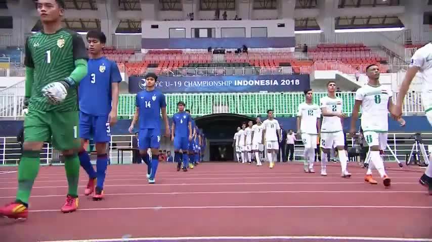 Vòng bảng giải U19 châu Á 2018: U19 Thái Lan 3-3 U19 Iraq