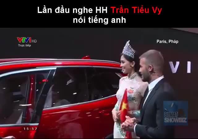 Hoa hậu Trần Tiểu Vy nói chuyện cùng David Beckham