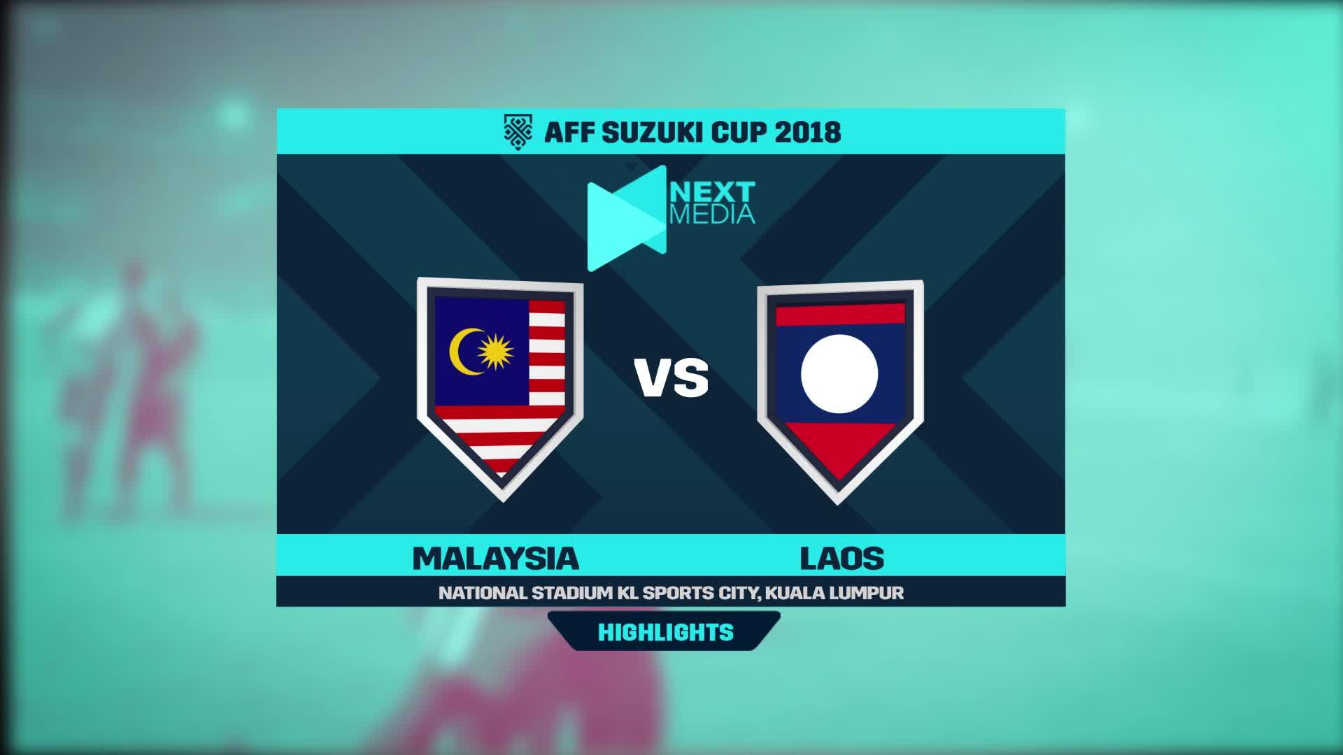 Bảng A, AFF Cup 2018: Malaysia 3-1 Lào