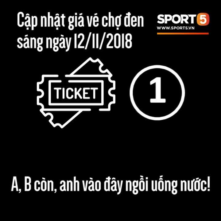 """Cập nhật giá vé """"chợ đen"""" xem Việt Nam đấu Malaysia ngày 12/11"""