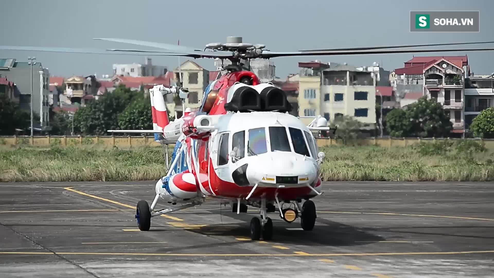 Trực thăng Nga bay trình diễn trên bầu trời Hà Nội