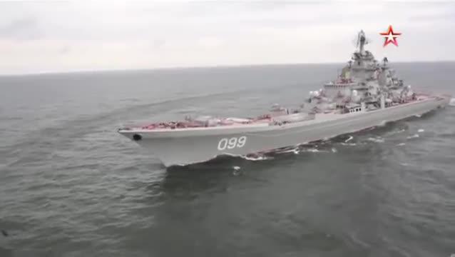 Tàu tuần dương tên lửa Peter Veliky phóng ngư lôi - tên lửa  RPK-6 Vodopad. Video TV Zvezda