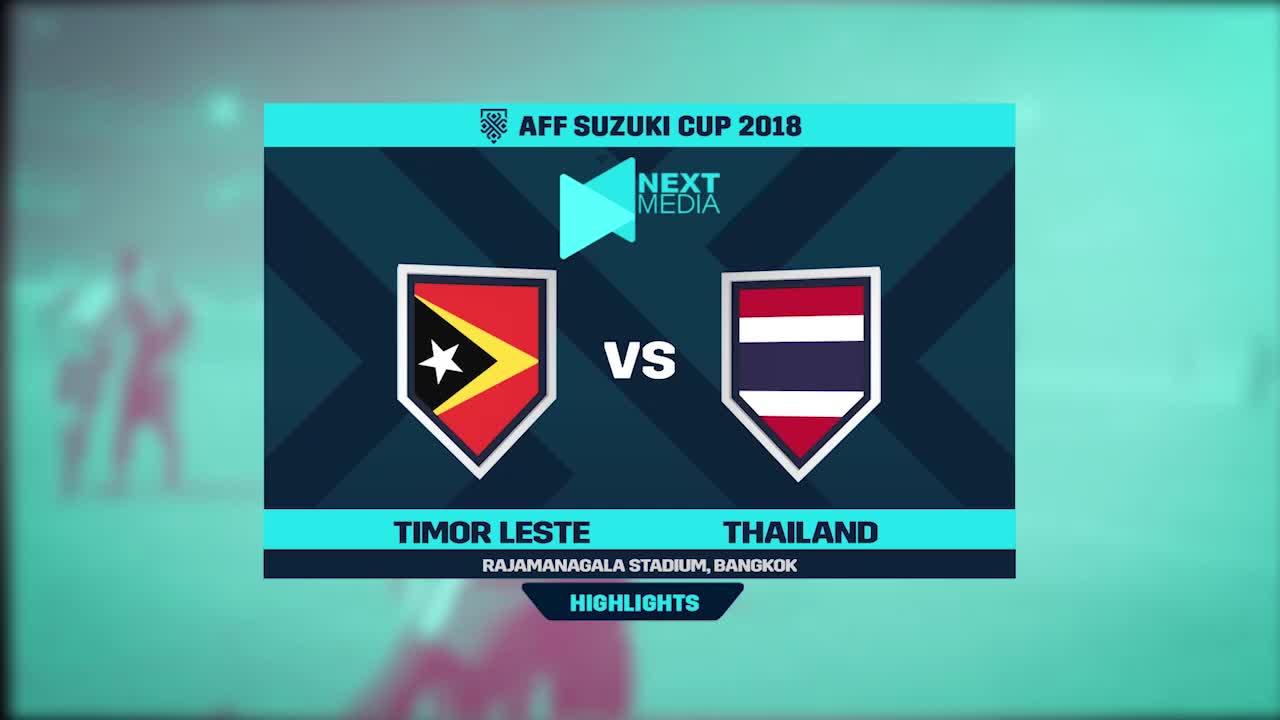 Vòng bảng AFF Cup 2018: Timor Leste 0-7 Thái Lan