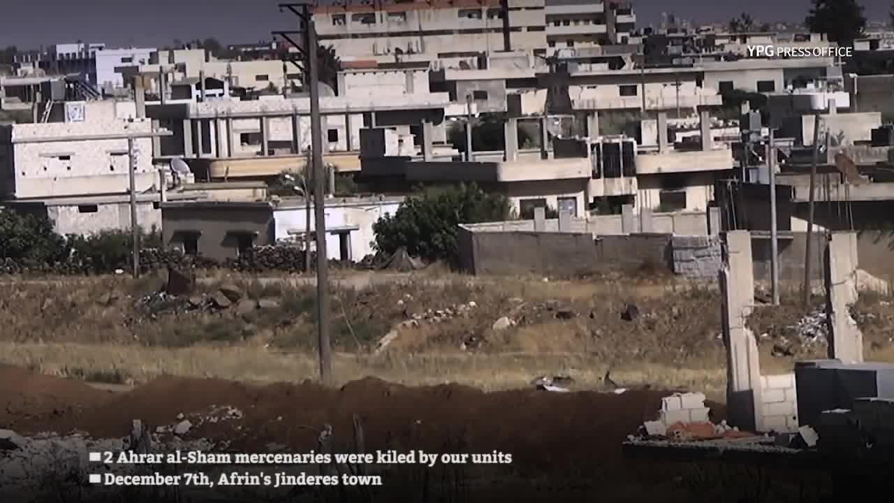 Sử dụng bom vệ đường, các tay súng bí mật YPG tiêp tục tiêu hao sinh lực của các nhóm FSA ở Afrin