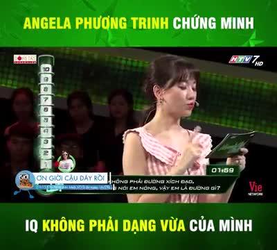 Angela Phương Trinh trả lời trúng gần hết câu hỏi của chương trình