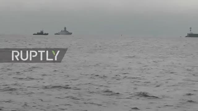 Tàu chiến mới tới căn cứ hạm đội biển Đen