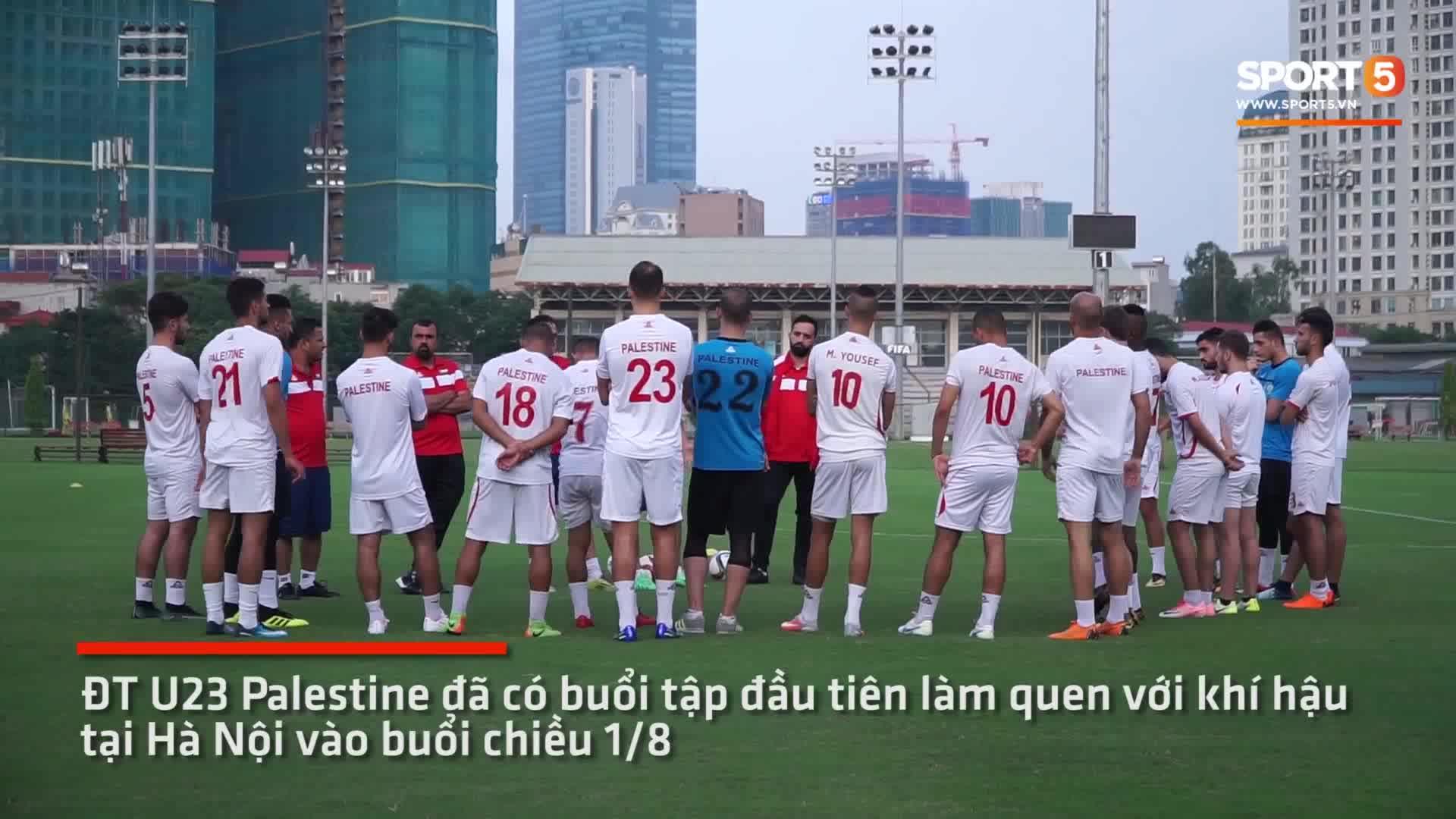U23 Palestine có buổi tập đầu tiên trong chiều ngay sau khi đặt chân tới Việt Nam sáng ngày 1/8