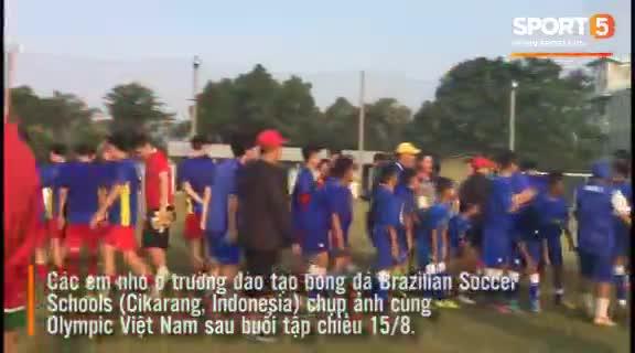 Buổi tập của olympic Việt Nam trước trận đấu với Olympic Nepal