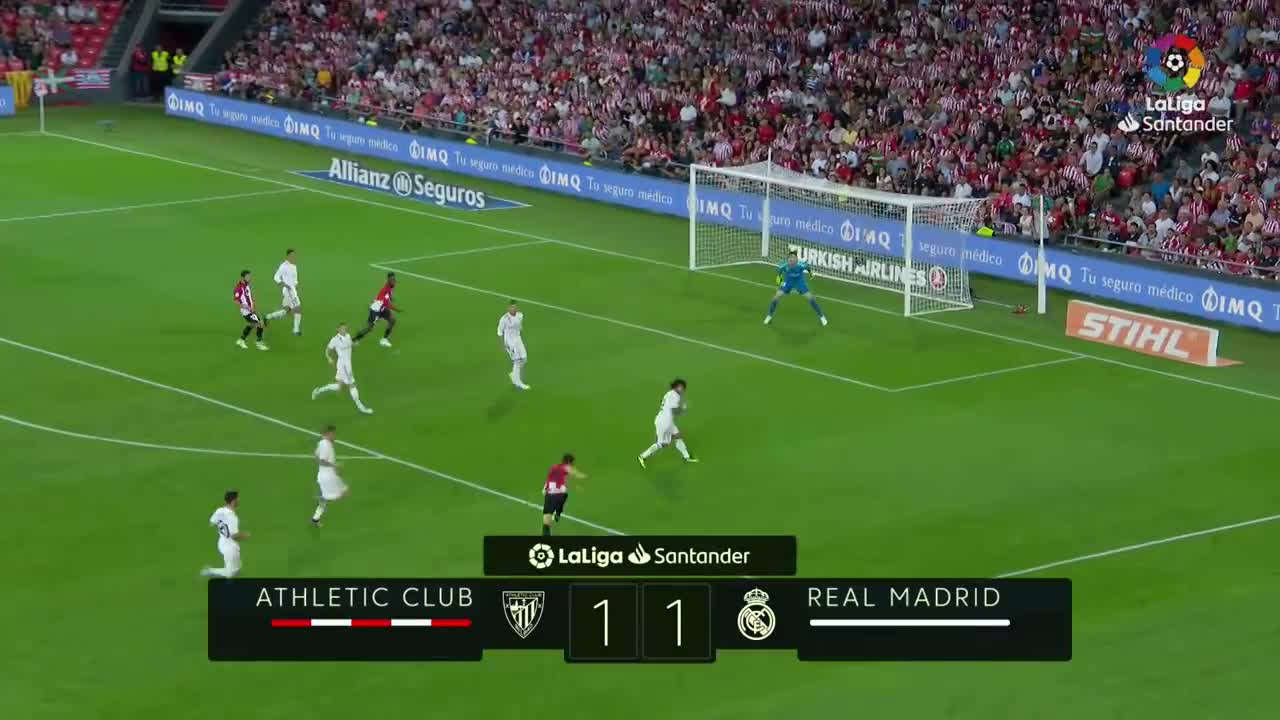 Vòng 4 La Liga 2018/19: Athletic Club 1-1 Real Madrid