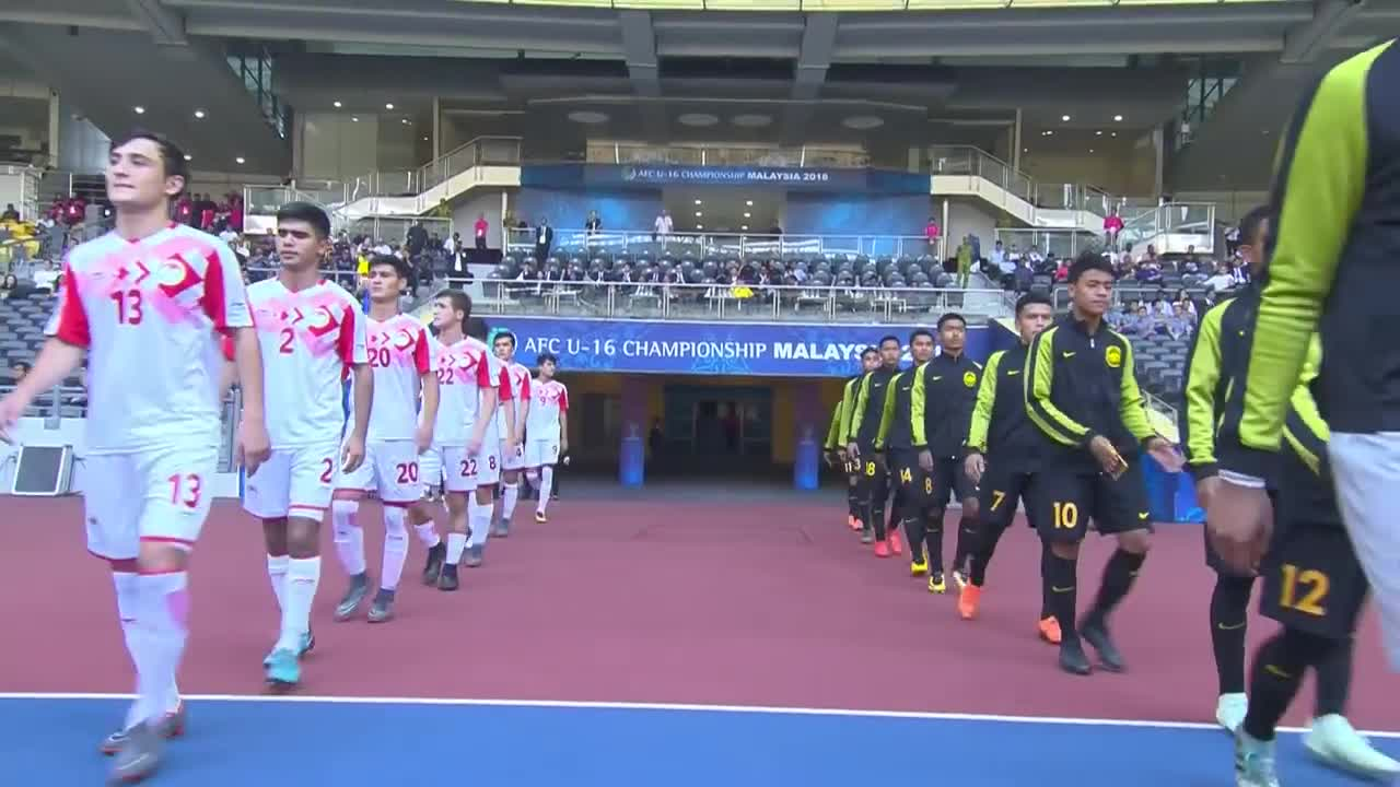 Bảng A VCK U16 châu Á: U16 Malaysia 6-2 U16 Tajikistan