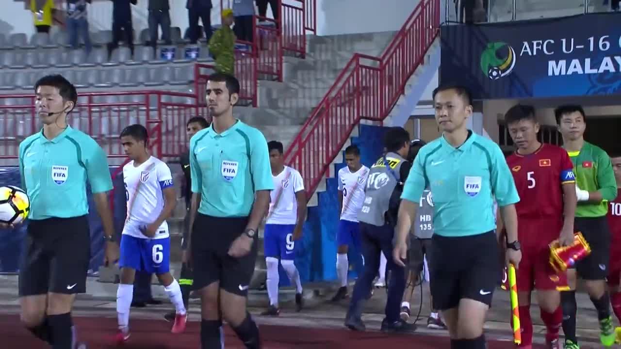 Bảng C, VCK U16 châu Á 2018: U16 Việt Nam 0-1 U16 Ấn Độ