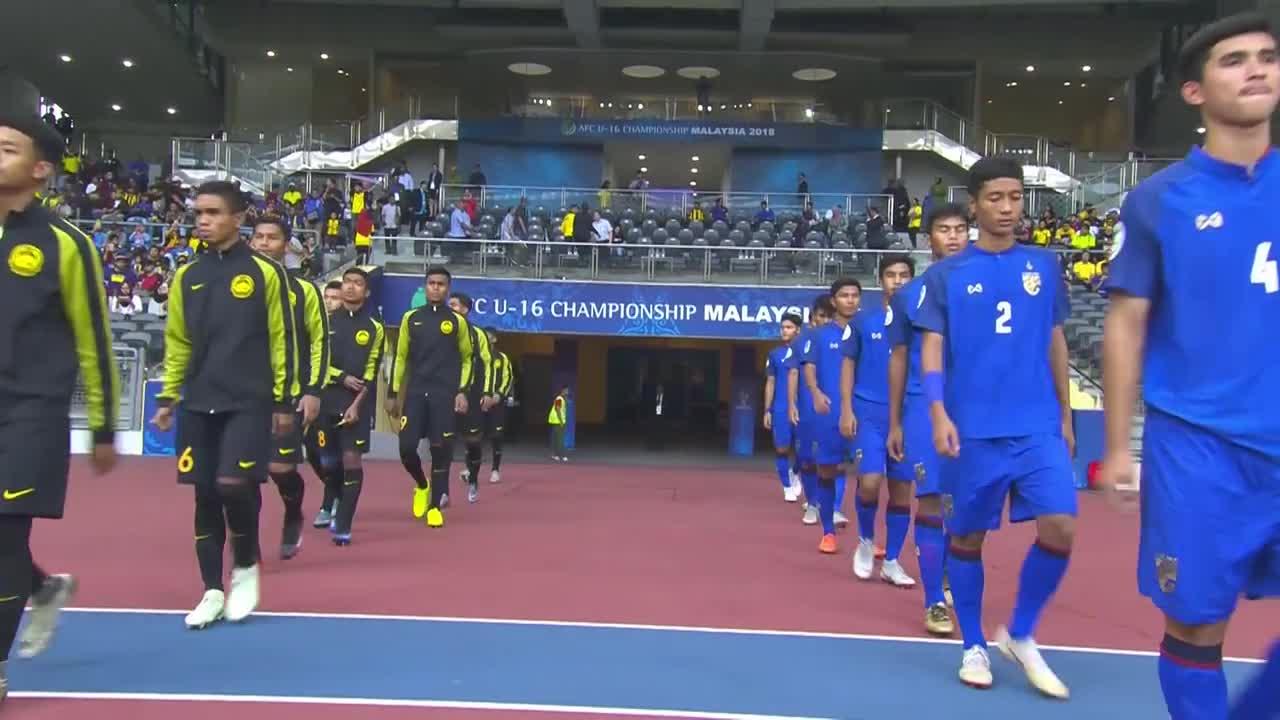 Bảng A, VCK U16 châu Á: Thái Lan 4-2 Malaysia